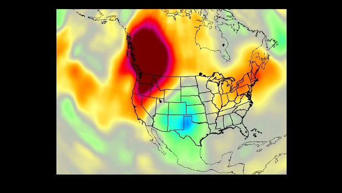 The AIRS instrument aboard NASA's Aqua satellite collected temperature readings in the atmosphere and at the surface during an unprecedented heat wave in the Pacific Northwest and western Canada that started around June 26. Credit: NASA/JPL-Caltech