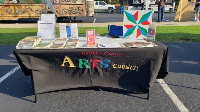 Franklin County Arts Council at the 2019 Youngsville Fall Festival. Source: FCAC