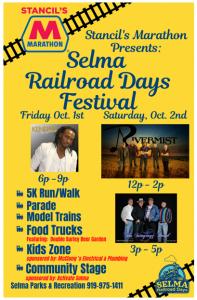 Updated Selma Railroad Days Festival.  Source:Melissa Dooley, Town of Selma