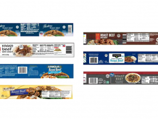 Can labels, released with Canned Beef with Gravy recall October 2021. Source: USDA FSIS