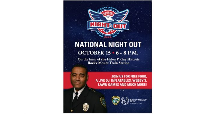 Rocky Mount, NC National Night Out 2021. Source: Corporal Ricky Jackson, Rocky Mount Police Department